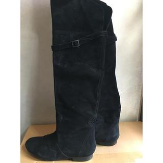 イエナスローブ(IENA SLOBE)の IENA SLOBE ブーツ ニーハイブーツ ブラック 38(ブーツ)