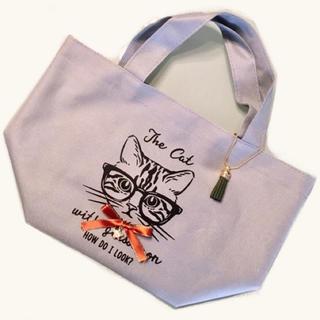 フランフラン(Francfranc)のセール!トートバック◆猫 ネコ ランチトートバッグ◆お散歩バッグ◆おしゃれ(トートバッグ)