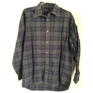 バーバリー(BURBERRY)のバーバリー ブラックチェック 長シャツ(Tシャツ/カットソー(七分/長袖))