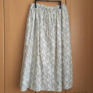 サマンサモスモス(SM2)のSamansa Mos2 ムーミン スカート アイボリー SM2(ロングスカート)