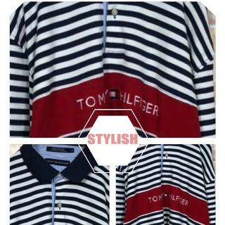 トミーヒルフィガー(TOMMY HILFIGER)のトミーヒルフィガー ボーダー デニム切り替えシャツ(シャツ)