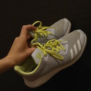アディダス(adidas)のアディダス 24cm スニーカー レディース ライトグレー(スニーカー)