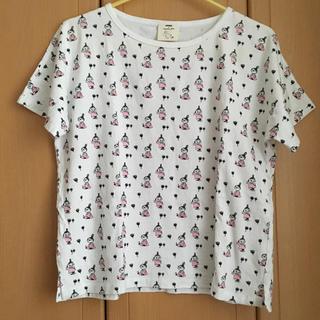 サマンサモスモス(SM2)のSamansa Mos2 ミィ Tシャツ ピンク SM2 ムーミン(Tシャツ(半袖/袖なし))