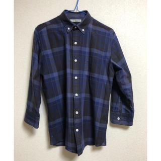 コーエン(coen)のcoen 七分袖シャツ ブルーチェック Sサイズ(Tシャツ/カットソー(七分/長袖))