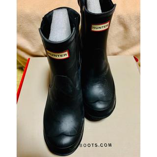 ハンター(HUNTER)の【新品未使用】HUNTER サイドゴアショートレインブーツ(レインブーツ/長靴)