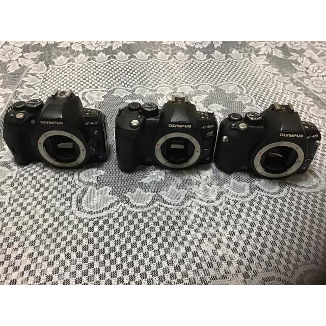 OLYMPUS(オリンパス)のOLYMPUS e420 e520 e620 スマホ/家電/カメラのカメラ(デジタル一眼)の商品写真