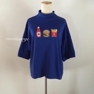 リベットアンドサージ(rivet & surge)のrivet&surge♡新品 ハンバーガー刺繍ハイネックTシャツ(Tシャツ(半袖/袖なし))