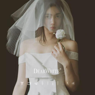Vera Wang - ショートベール ホワイト