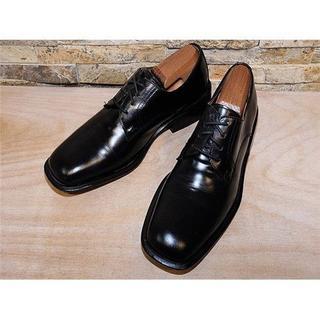 コーチ(COACH)のITALY製 コーチ プレーントゥドレスシューズ 黒 26cm(ドレス/ビジネス)