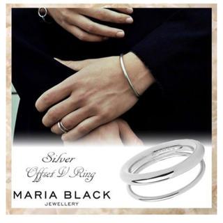 マリア ブラック  OFFSET V 2連リング(リング(指輪))