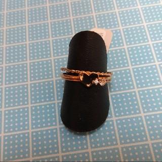 華奢なハート3連リング(リング(指輪))