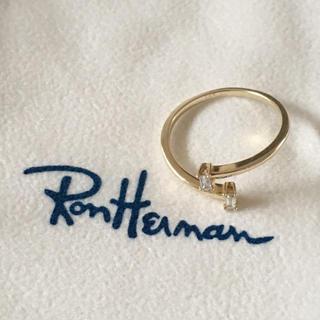 ロンハーマン(Ron Herman)のBETTINA JAVAHERI リング US 5~5.5 K14×YG×ダイヤ(リング(指輪))