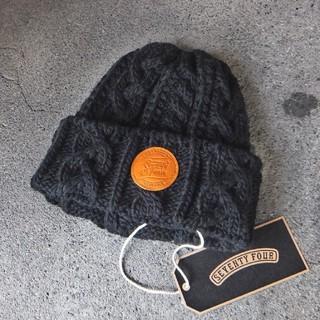 SEVENTY FOUR - セール中●18秋冬新作●セブンティーフォー ケーブル編み ウールニット帽  新品
