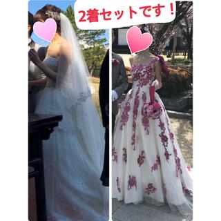 0847ecdde0e8e ウェディングドレス2着セット♡トータルセット(ウェディングドレス)