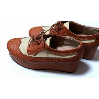 サンゴ(sango)の《送料込み》厚底ローファー(sango)*ブラウン(ローファー/革靴)