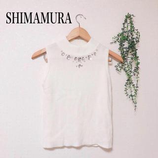 シマムラ(しまむら)のしまむら ビジュートップス(カットソー(半袖/袖なし))