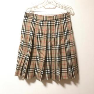 バーバリー(BURBERRY)のBurberry チェックプリーツスカート(ひざ丈スカート)