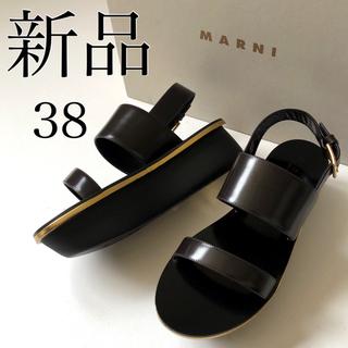 マルニ(Marni)の38新品 MARNI マルニ ゴールドライン プラットホーム サンダル(サンダル)