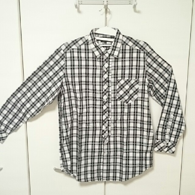 m.f.editorial(エムエフエディトリアル)のYシャツ チェック柄 長袖 Lサイズ メンズのトップス(シャツ)の商品写真
