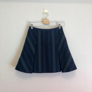 サカイラック(sacai luck)のsacai luck 2015 SS ツイードフレアスカート(ひざ丈スカート)