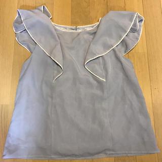 シマムラ(しまむら)の肩フリルレーストップス(カットソー(半袖/袖なし))