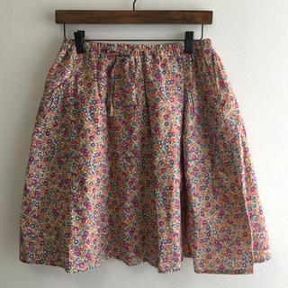ドゥファミリー(DO!FAMILY)のDO!FAMILY 花柄スカート 美品(ひざ丈スカート)