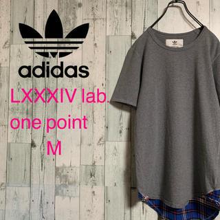 アディダス(adidas)のアディダス オリジナルス LXXXIV lab 切り替え ロゴ刺繍 Tシャツ(Tシャツ/カットソー(半袖/袖なし))
