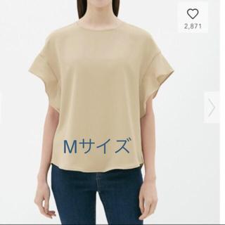 ジーユー(GU)のgu☆フレアスリーブブラウス(半袖)Z☆プチプラのあやさん着用☆新品☆Mサイズ(シャツ/ブラウス(半袖/袖なし))