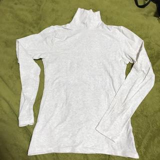 ジーユー(GU)のハイネックTシャツ Lサイズ 古着(Tシャツ(長袖/七分))