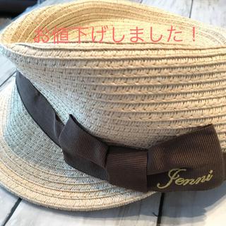 ジェニィ(JENNI)の【しほ様専用】ジェニィ 麦わらキャスケット帽子(帽子)