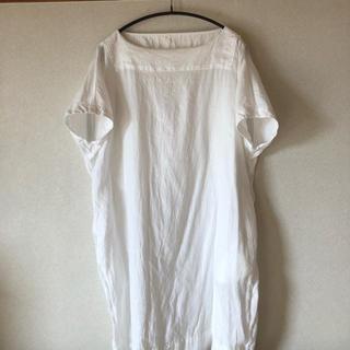ネストローブ(nest Robe)のnest robe 半袖白チュニック(チュニック)