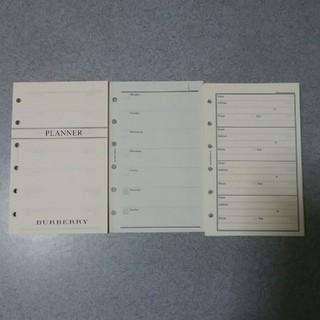 バーバリー(BURBERRY)のBURBERRY スケジュール&アドレス レフィル(カレンダー/スケジュール)