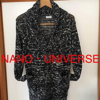 ナノユニバース(nano・universe)の美品です!NANO・UNIVERSE ショールカラー カーディガン(カーディガン)