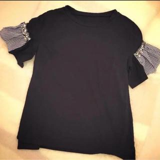 a76ff7beeda1b チェスティ(Chesty)のチェスティ ビジュー 袖フリル Tシャツ(Tシャツ(半袖