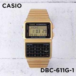 カシオ(CASIO)の新品 CASIO データバンク デジタル DBC-611G-1 腕時計 男女兼用(腕時計(デジタル))
