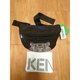 ケンゾー(KENZO)の新品正規品★KENZO タイガー刺繍  ボディバッグ ブラック(ボディーバッグ)