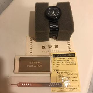 ムジルシリョウヒン(MUJI (無印良品))の新品未使用 無印良品 MUJI Taxi 腕時計 クォーツ ブラックメタル(腕時計)