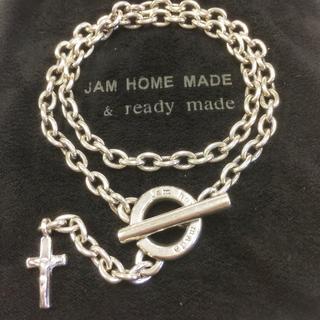 ジャムホームメイドアンドレディメイド(JAM HOME MADE & ready made)のJAM HOME MADE シルバー クロスブレスレット ネックレス(ネックレス)
