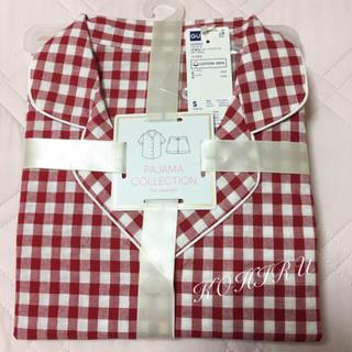 ジーユー(GU)のGU ギンガムチェックパジャマ  新品タグ付き  半袖+ショーパン2点セット(パジャマ)