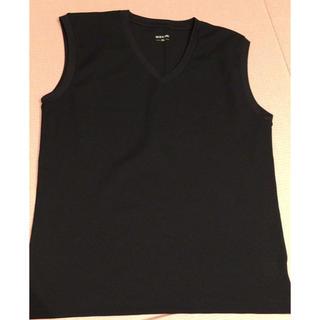 シマムラ(しまむら)の黒シャツ3L(Tシャツ/カットソー(半袖/袖なし))