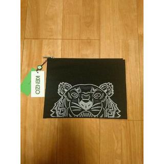 ケンゾー(KENZO)の★新品正規品【KENZO】A4対応 刺繍クラッチバッグ ブラック(セカンドバッグ/クラッチバッグ)