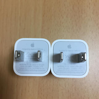アップル(Apple)の【専用】iPhone  USBアダプター2個(変圧器/アダプター)