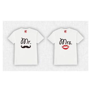 ユニクロ(UNIQLO)の【売り切れ】結婚式 前撮り カップル ペア Tシャツ ウェディング(ウェディングドレス)