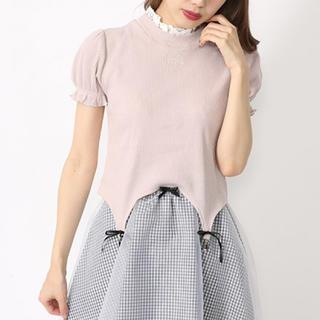 アンクルージュ(Ank Rouge)のレースハイネックガーターパフT(Tシャツ(半袖/袖なし))