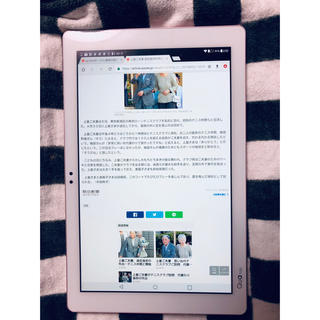 エルジーエレクトロニクス(LG Electronics)のau タブレット qua tab PZ ピンク LGT32 iPad(タブレット)