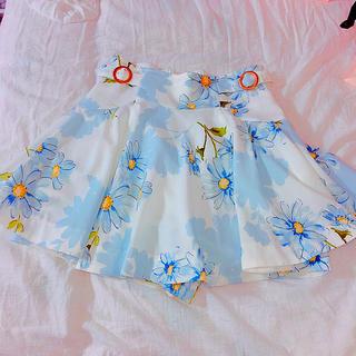 リズリサ(LIZ LISA)のリズリサ  スカパン ブルー スカート(ミニスカート)
