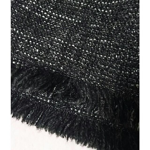 DENDROBIUM(デンドロビウム)のデンドロビウム ラメ入り ツイード フリンジ スカート ミニスカート レディースのスカート(ミニスカート)の商品写真