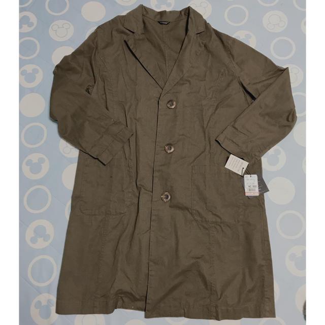 しまむら(シマムラ)のタグなし新品♡カーキワークシャツ♡ロングジャケット レディースのジャケット/アウター(スプリングコート)の商品写真