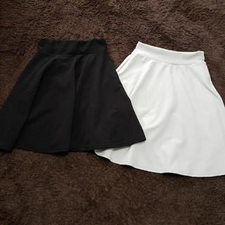 コウベレタス(神戸レタス)のフレアスカート 2枚セット(ひざ丈スカート)