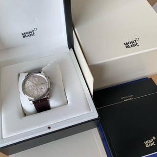 84d8383ac4 モンブラン(MONTBLANC)のモンブラン タイムウォーカー クロノボイジャーUTCアリゲーターレザー(腕時計(